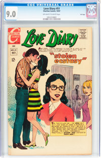 Love Diary #51 File Copy (Charlton, 1967) CGC VF/NM 9.0 Off-white to white pages