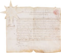 Autographs:Statesmen, Benjamin Franklin Document Signed...