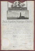 Autographs:U.S. Presidents, Thomas Jefferson Scallop-Top Ship's Passport Signed....