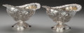 Silver Holloware, British:Holloware, A Pair of Richard Crossley George III Partial Gilt Silver SweetmeatDishes, London, England , circa 1802-1803. Marks: (lion ... (Total:2 Items)