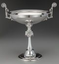 Silver Holloware, American:Tazze, A John Wendt Silver Medallion Tazza, New York, New York,circa 1860. Marks: 925/1000 (in shield), C.A. STE...