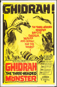 """Ghidrah, the Three-Headed Monster (Continental, 1965). One Sheet (27"""" X 41""""). Science Fiction"""