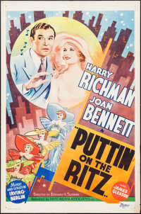 "Puttin' on the Ritz (Art Cinema, R-1937). One Sheet (27"" X 41"")"