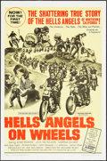 "Movie Posters:Exploitation, Hells Angels on Wheels (U.S. Films Inc., 1967). One Sheet (27"" X 41""). Exploitation.. ..."