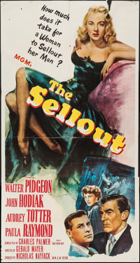 "The Sellout (MGM, 1952). Three Sheet (41"" X 79""). Crime"