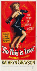 "Movie Posters:Musical, So This Is Love (Warner Brothers, 1953). Three Sheet (41"" X 80""). Musical.. ..."