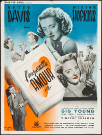 """The Old Maid (Warner Brothers, 1945). First Post-War Release French Affiche (23.5"""" X 31.25""""). Drama"""