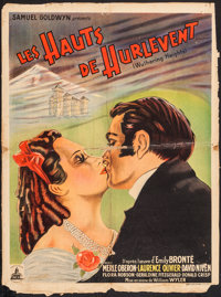 """Wuthering Heights (Pantheon, 1939). French Affiche (23.25"""" X 31""""). Romance"""