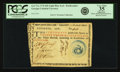 Colonial Notes:Georgia, Georgia 1776 Light Blue Seal $20 Rattlesnake Fr. GA-77a. PCGS VeryFine 35 Apparent.. ...