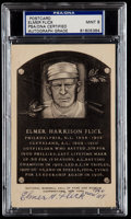 Baseball Collectibles:Others, 1956-63 Elmer Flick Signed Black & White Hall of Fame PlaquePSA Mint 9....