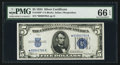 Small Size:Silver Certificates, Fr. 1650* $5 1934 Silver Certificate. PMG Gem Uncirculated 66 EPQ.. ...
