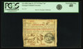 "Colonial Notes:Georgia, Georgia June 8, 1777 $7 Red ""In"" Fr. GA-109a. PCGS Extremely Fine 40.. ..."
