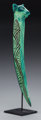 William Morris Blown Glass Baton With a steel stand. Circa 1997. Engraved William Morris, 1997 Ht. 15 in. ... (Total: 2...