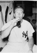 Baseball Collectibles:Photos, Circa 1954 Mickey Mantle Original Photograph, PSA/DNA Type 1. ...