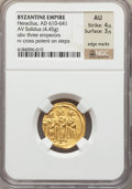 Ancients:Byzantine, Ancients: Heraclius (AD 610-641). AV solidus (4.45 gm)....