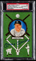 Baseball Collectibles:Others, Mickey Mantle Signed Perez Steele Postcard....
