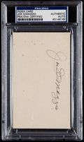 Baseball Collectibles:Others, Joe DiMaggio Signed Index Card....
