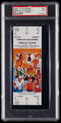 Football Collectibles:Tickets, 1996 Green Bay Packers Vs. Tampa Bay Buccaneers Full Ticket - Favre 4 TD Passes....
