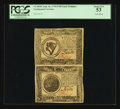 Colonial Notes:Continental Congress Issues, Continental Currency September 26, 1778 $8-$7 Uncut Vertical PairPCGS About New 53.. ...