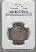 Seated Half Dollars, 1840-O 50C -- Improperly Cleaned -- NGC Details. XF. NGC Census: (13/89). PCGS Population (23/93). Mintage: 855,100. Numism...