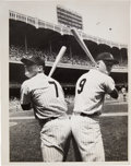 Baseball Collectibles:Photos, Circa 1961 Mickey Mantle & Roger Maris Original Photograph,PSA/DNA Type 1. ...