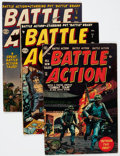 Golden Age (1938-1955):War, Battle Action #5, 7, and 15 Group (Atlas, 1952-55) Condition:Average VG.... (Total: 3 Comic Books)