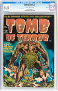 Golden Age (1938-1955):Horror, Tomb of Terror #1 (Harvey, 1952) CGC FN+ 6.5 Slightly brittlepages....
