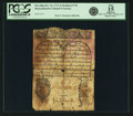 Colonial Notes:Massachusetts, Province of the Massachusetts Bay October 14, 1713 3 Shillings Redated 1735 Fr. MA-60p. PCGS Fine 15 Apparent.. ...