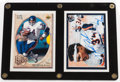 Football Collectibles:Photos, Walter Payton Signed UDA Card....