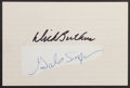 Football Collectibles:Others, Gale Sayers and Dick Butkus Signed Cut Signatures....
