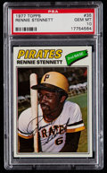 Baseball Cards:Singles (1970-Now), 1977 Topps Rennie Stennett #35 PSA Gem Mint 10 - Pop Three....