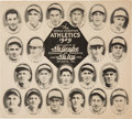 Baseball Collectibles:Others, 1929 Nu Grape and Nu Icy 1929 Philadelphia Athletics Team Premium....