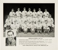 Baseball Collectibles:Photos, 1938 Radio Appreciation Day Minneapolis Millers Team Photo With TedWilliams. ...