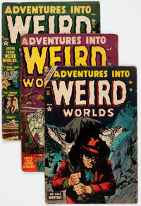 Adventures Into Weird Worlds Group of 11 (Atlas, 1952-54) Condition: Average GD.... (Total: 11 Comic Books)