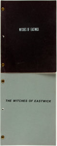 Books:Literature 1900-up, [Screenplays]. Pair of Screenplays for The Witches ofEastwick. Michael Cristofer, based on the book by John Updik...(Total: 2 Items)