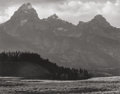 Photographs, Ansel Adams (American, 1902-1984). Tetons from South East, 1942. Gelatin silver, circa 1960. 7-5/8 x 9-5/8 inches (19.3 ...