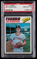 Baseball Cards:Singles (1970-Now), 1977 Topps Jim Crawford #69 PSA Gem Mint 10....