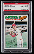 Baseball Cards:Singles (1970-Now), 1977 Topps Mike Anderson #72 PSA Gem Mint 10....