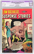 Golden Age (1938-1955):Horror, Lawbreakers Suspense Stories #11 (Charlton, 1953) CGC Apparent VF-7.5 Slight (C-1) Off-white pages....