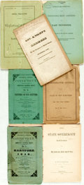 Books:Americana & American History, [American History]. Group of Seven Pamphlets. Various publishersand dates, circa 1850.... (Total: 7 Items)