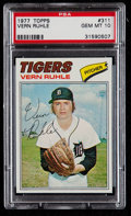 Baseball Cards:Singles (1970-Now), 1977 Topps Vern Ruhle #311 PSA Gem Mint 10 - Pop Three. ...