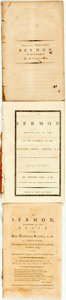Books:Americana & American History, [Americana/Religion]. Trio of Pamphlets of Recorded Sermons.Various publishers and dates, circa 1795. ... (Total: 3 Items)