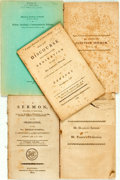 Books:Americana & American History, [Americana]. Group of Five Pamphlets. Various publishers and dates,circa 1800.... (Total: 4 Items)