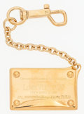 """Luxury Accessories:Accessories, Louis Vuitton Gold Name Plate Keychain. Very Good Condition.7.25"""" Length. ..."""
