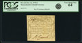 Colonial Notes:Massachusetts, Massachusetts October 16, 1778 3 Shillings Fr. MA-263. PCGS VeryChoice New 64.. ...