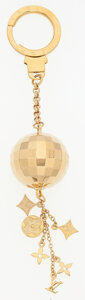 "Luxury Accessories:Accessories, Louis Vuitton Gold Discoball Keychain. Very Good to ExcellentCondition. 1"" Width x 6"" Length. ..."