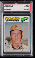Baseball Cards:Singles (1970-Now), 1977 Topps Duffy Dyer #318 PSA Gem Mint 10 - Pop Two....