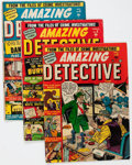 Golden Age (1938-1955):Horror, Amazing Detective Cases Group of 5 (Atlas, 1951-52) Condition:Average GD/VG.... (Total: 5 Comic Books)