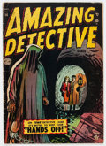 Golden Age (1938-1955):Horror, Amazing Detective Cases #14 (Atlas, 1952) Condition: VG....