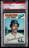 Baseball Cards:Singles (1970-Now), 1977 Topps Elliott Maddox #332 PSA Gem Mint 10....